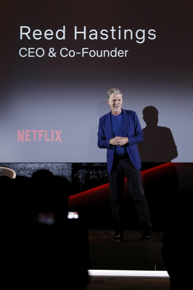 ROME, ITALY - APRIL 18: Reed Hastings attends Reed Hastings panel during Netflix 'See What's Next' event at Villa Miani on April 18, 2018 in Rome, Italy. (Photo by Ernesto S. Ruscio/Getty Images for Netflix) *** Local Caption *** Reed Hastings